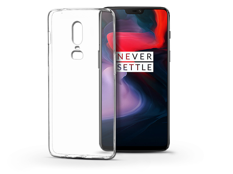 OnePlus 6 szilikon hátlap - Soft Clear - transparent
